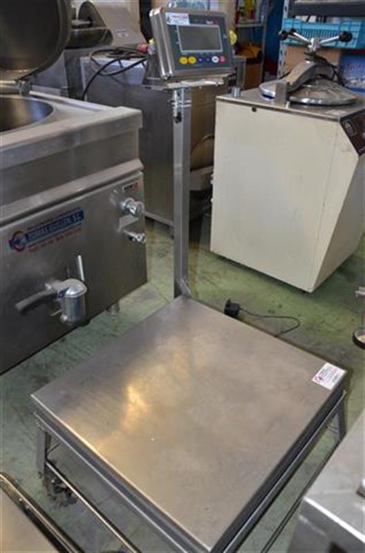 1 bascula de pesaje en acero inox de 350 kg.