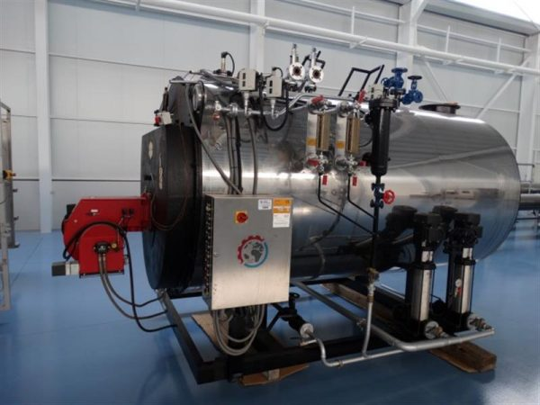 1 caldera de vapor 1.500 kg vaporh mingazzini con quemador diesel