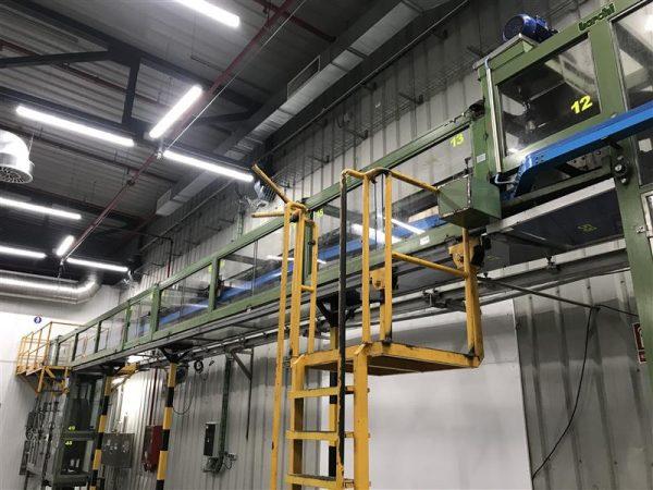 1 cinta transportadora aerea berchi inox. l 11 m