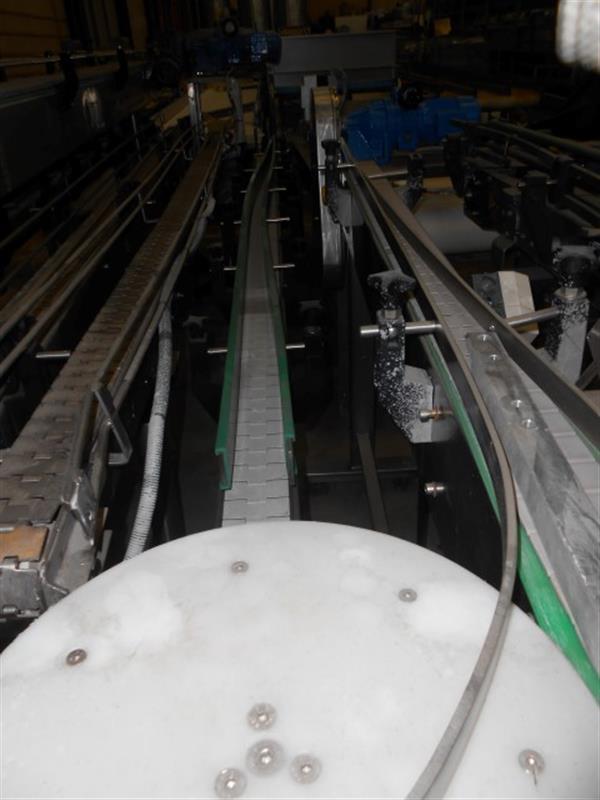 1 cinta transportadora charnela inox l 3.30 m a 0.08 m