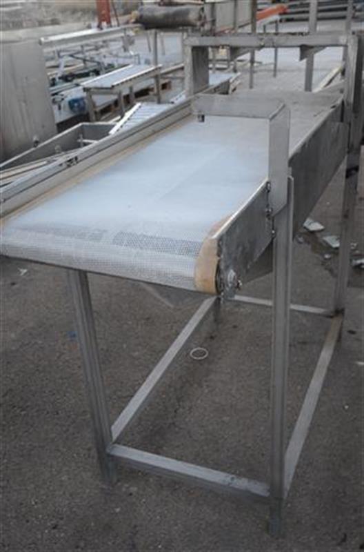 1 cinta transportadora con malla de pvc escurrir producto l1.64m a50cm