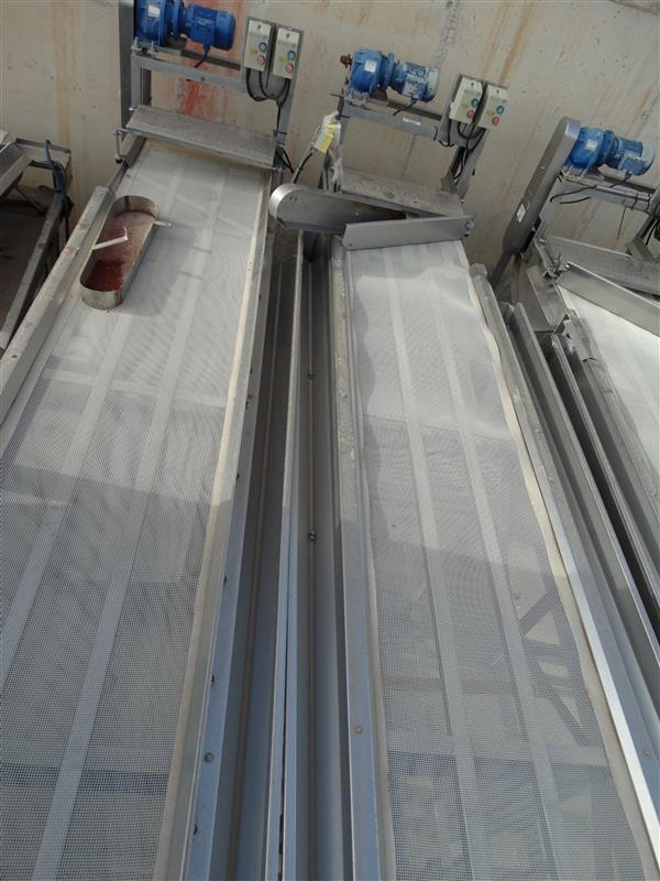 1 cinta transportadora con malla de pvc escurrir producto l4.30m a60cm 2