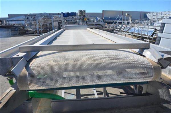 1 cinta transportadora con malla de pvc escurrir producto l4.30m a60cm