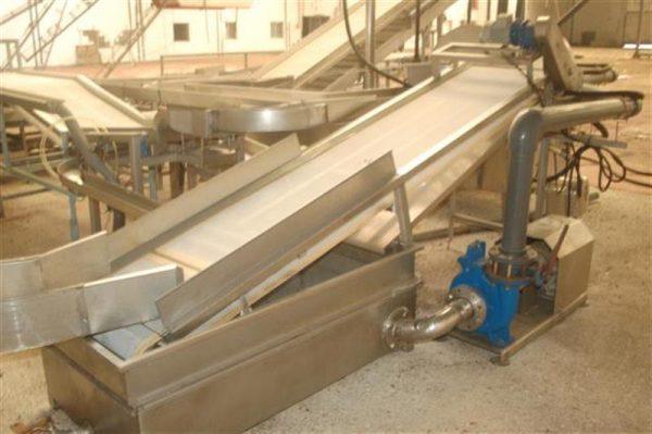 1 cinta transportadora con malla de pvc escurrir producto y balsa l3m