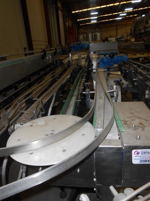 1 cinta transportadora curva charnela pvc inox inemur l1.50 m a0.08 m