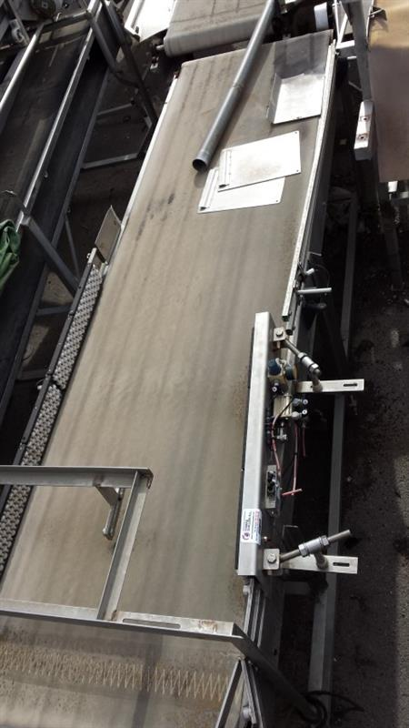 1 cinta transportadora de banda de lona inox l 3.10 m a 0.75 m