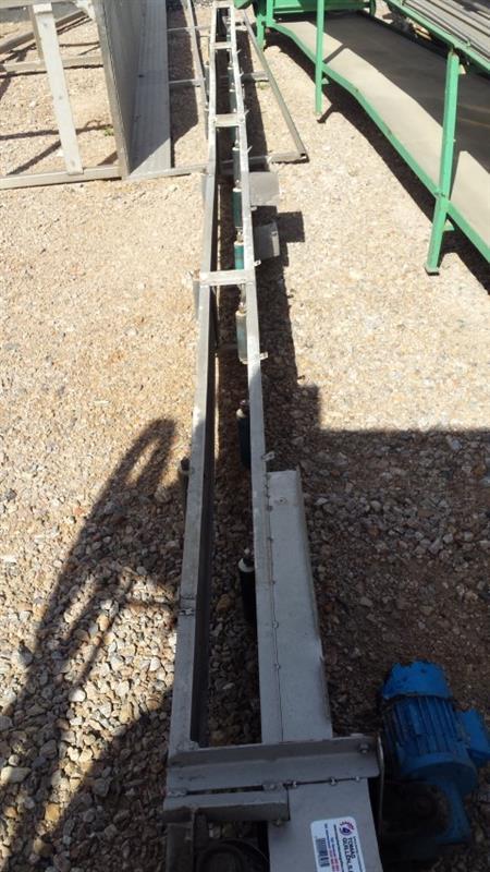 1 cinta transportadora de banda de lona inox l 7.10 m a 0.20 m
