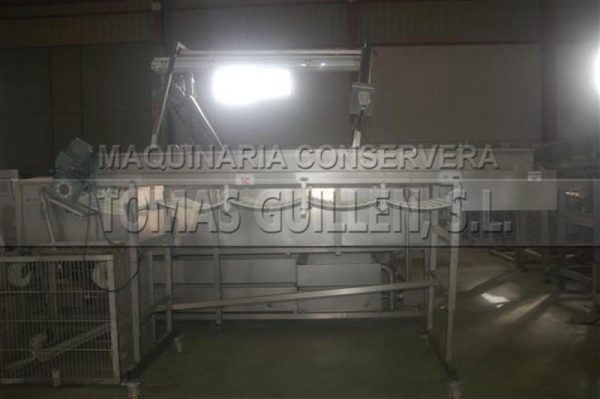 1 cinta transportadora de banda modular en acero inox l 3.30 m