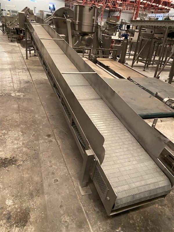 1 cinta transportadora de banda modular en acero inox.l 7 ma50cm
