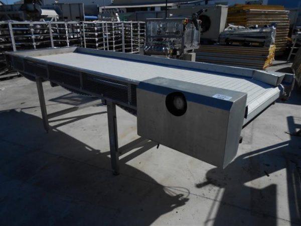 1 cinta transportadora de banda modular inox.l3.61 m a 1.05 m