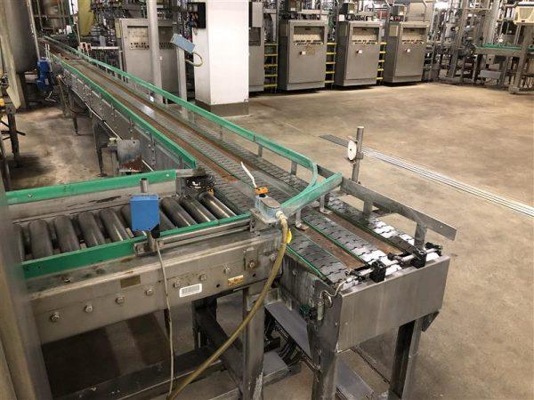 1 cinta transportadora de charnela de 3 calles inox l7 m a 0.40 m