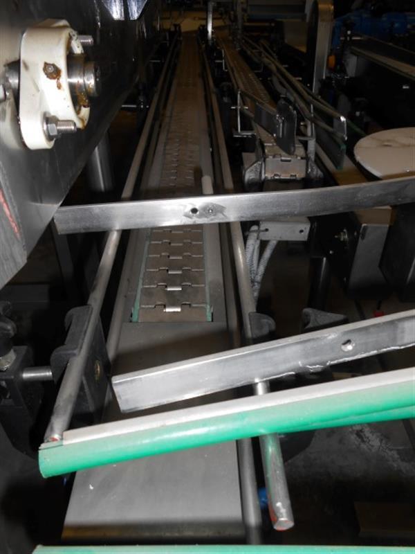 1 cinta transportadora de charnela inox l 4.60 m a 0.08 m