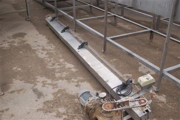 1 cinta transportadora de charnela l.60 m charnela 10 cm