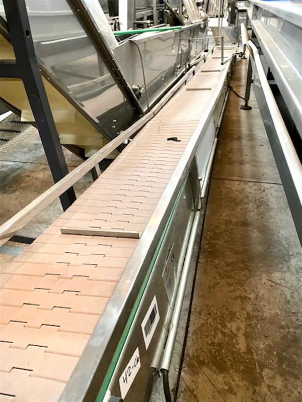 1 cinta transportadora de charnela pvc inox. l 6.10 m a 30 cm