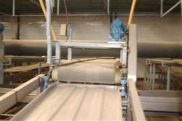 1 cinta transportadora de intralox perforada con pasarela l3.92 m a55