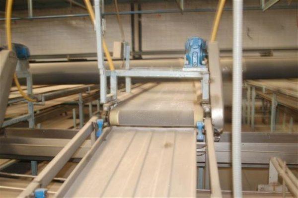 1 cinta transportadora de intralox perforada con pasarela l3.92 m a55 1 1