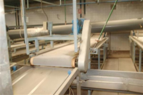 1 cinta transportadora de intralox perforada con pasarela l3.92 m a55 1 6