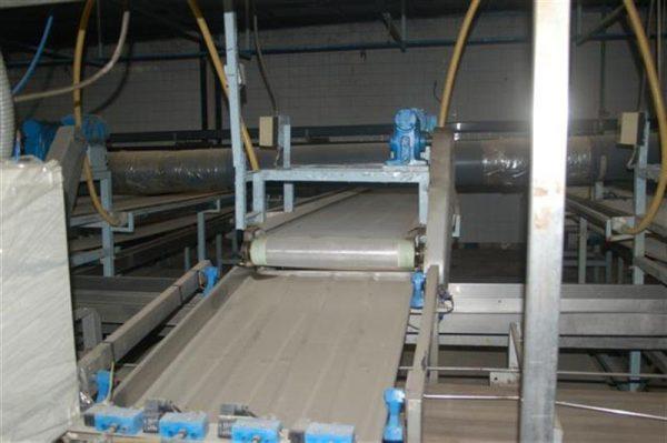 1 cinta transportadora de intralox perforada con pasarela l3.92 m a55 1 8