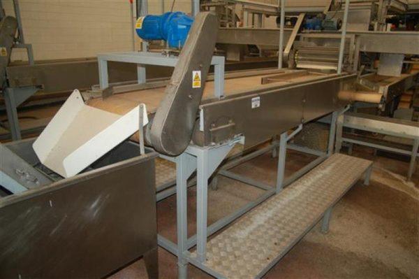 1 cinta transportadora de lona con 2 salidas desperdicio l2.96m a55cm 2