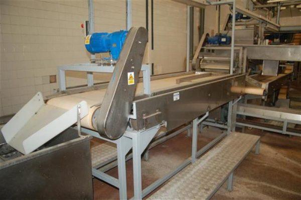 1 cinta transportadora de lona con 2 salidas desperdicio l2.96m a55cm