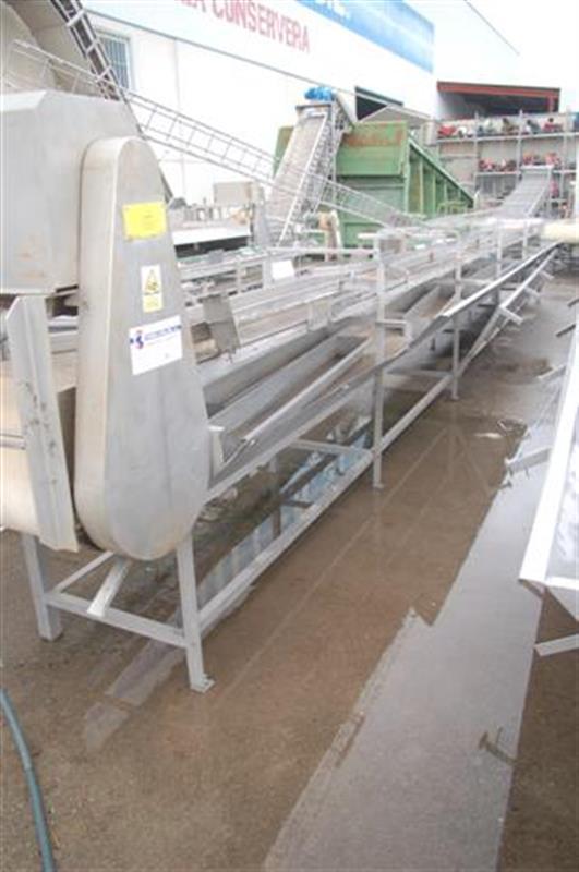 1 cinta transportadora de lona con salida desperdicio abl l10 m a60 cm 1