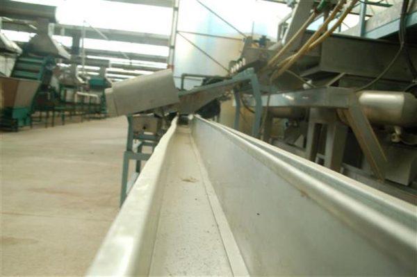 1 cinta transportadora de lona con salida desperdicio l14.50 a35 cm