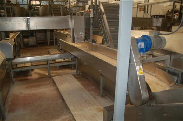 1 cinta transportadora de lona en acero inox con bancada l 3.60 a30 cm 3