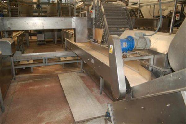 1 cinta transportadora de lona en acero inox con bancada l 3.60 a30 cm 4