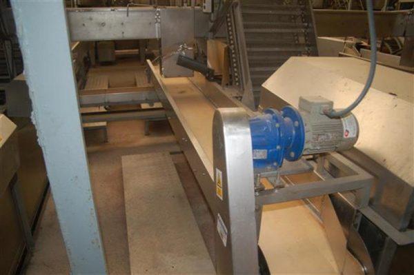 1 cinta transportadora de lona en acero inox con bancada l 3.60 a30 cm