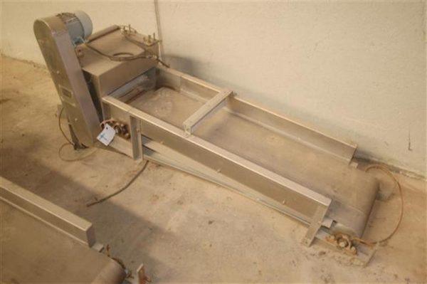 1 cinta transportadora de lona en acero inox fma l 2.15 a 40 cm 2