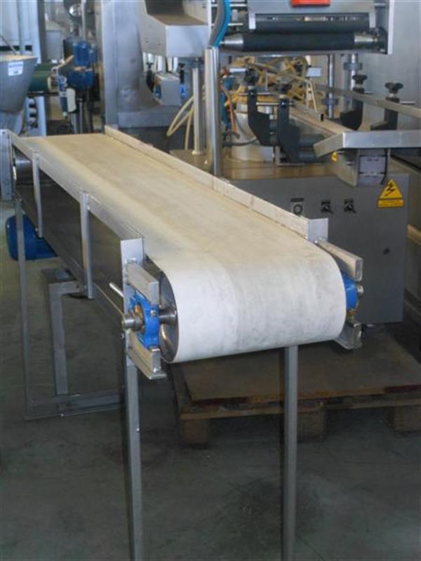 1 cinta transportadora de lona en acero inox. l1.96m a30cm.