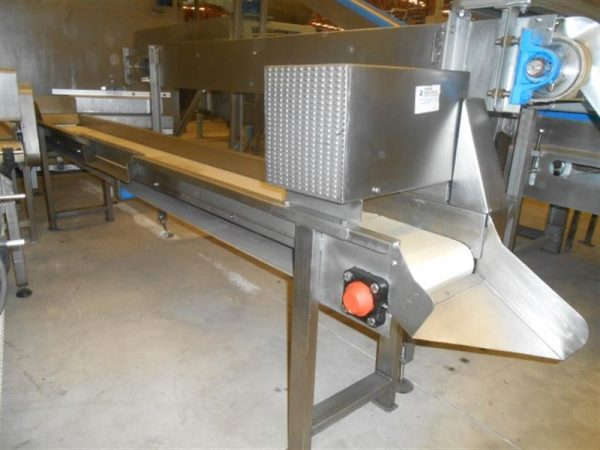 1 cinta transportadora de lona en acero inox. l3.17m a31cm.
