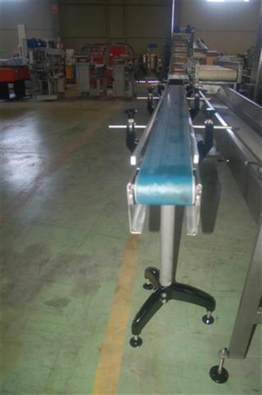 1 cinta transportadora de lona en acero inox. l3m a15cm.