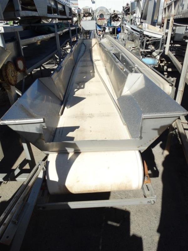 1 cinta transportadora de lona en acero inox. l8.35 m a50cm.