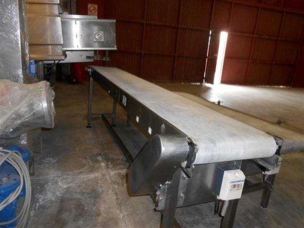1 cinta transportadora de lona inox l 3 m a 0.40 m