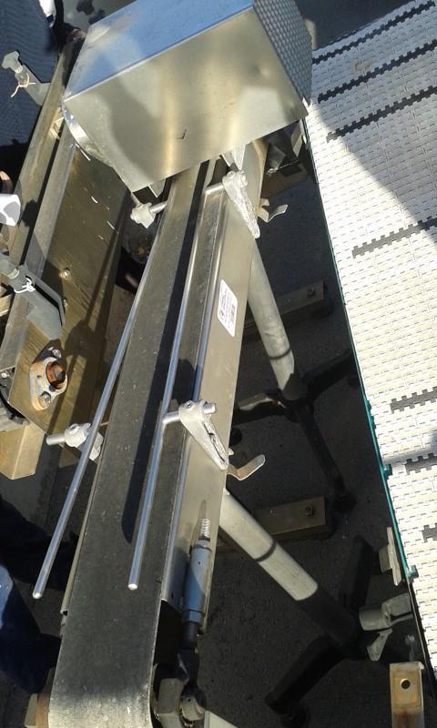 1 cinta transportadora de lona inox l1.30 m a 0.14 m