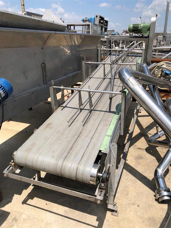 1 cinta transportadora de lona inox. l 3.20 m a 55 cm