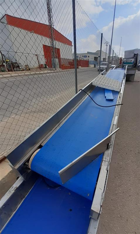 1 cinta transportadora de lona inox. l 3.80 m a 45 cm