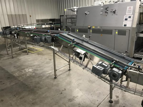 1 cinta transportadora de lona inox.descarga 0.75 m a 35 cm