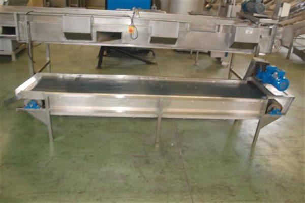1 cinta transportadora de lona l 2.83 m a 50 cm