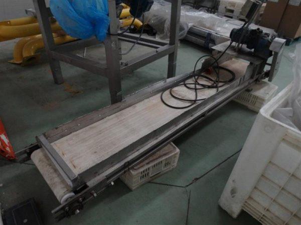 1 cinta transportadora de lona marrodan inox l 2.60 m a 0.37 m