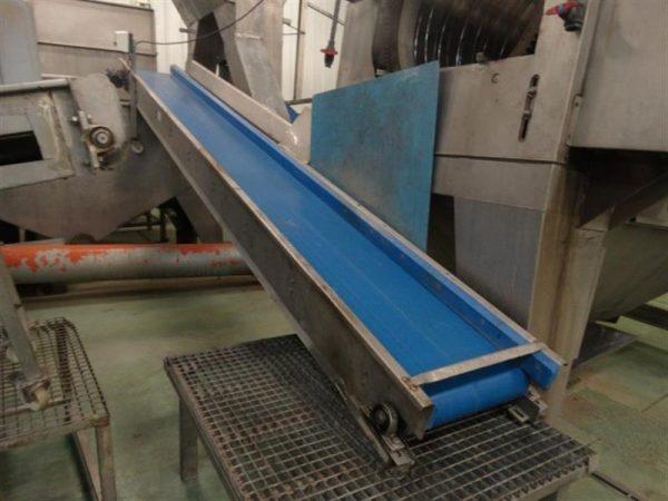 1 cinta transportadora de lona urtasun inox l 5.20 m a 0.45 m