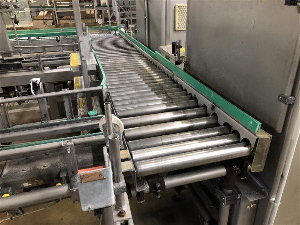 1 cinta transportadora de rodillos motorizada inox. l 3.50 m a 50 cm