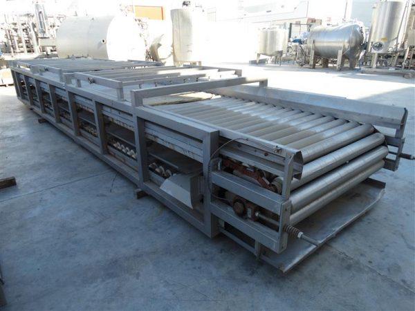 1 cinta transportadora de rodillos previa tria trans meccar.l 9.20 m a1.50 m
