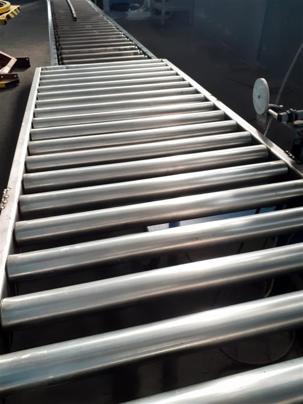 1 cinta transportadora de rodillos sin motorizar inox l 2.98 m a 50 cm