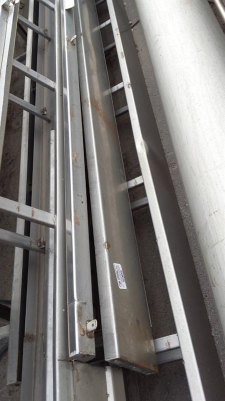 1 cinta transportadora inox l 9 m a 0.40 m