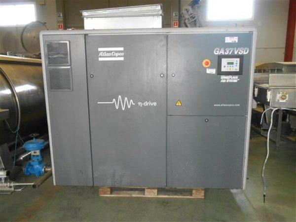 1 compresor de aire atlas copco ga 37 vsd
