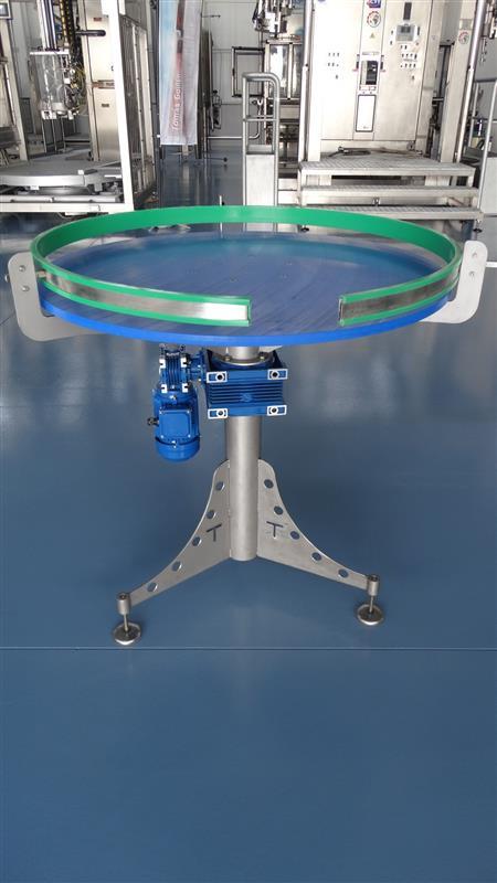 1 disco alimentador de pvc inox. diametro 1 m