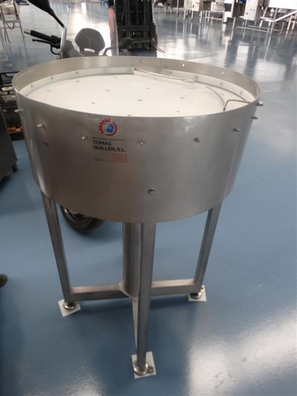 1 disco de acumulacion en acero inox. diametro 75 cm