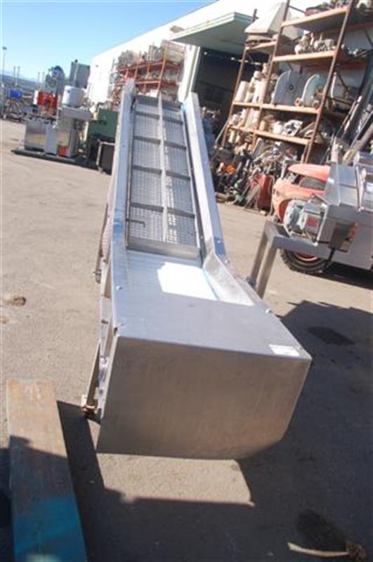 1 elevado con banda modular en acero inox alto descarga 1.40 m